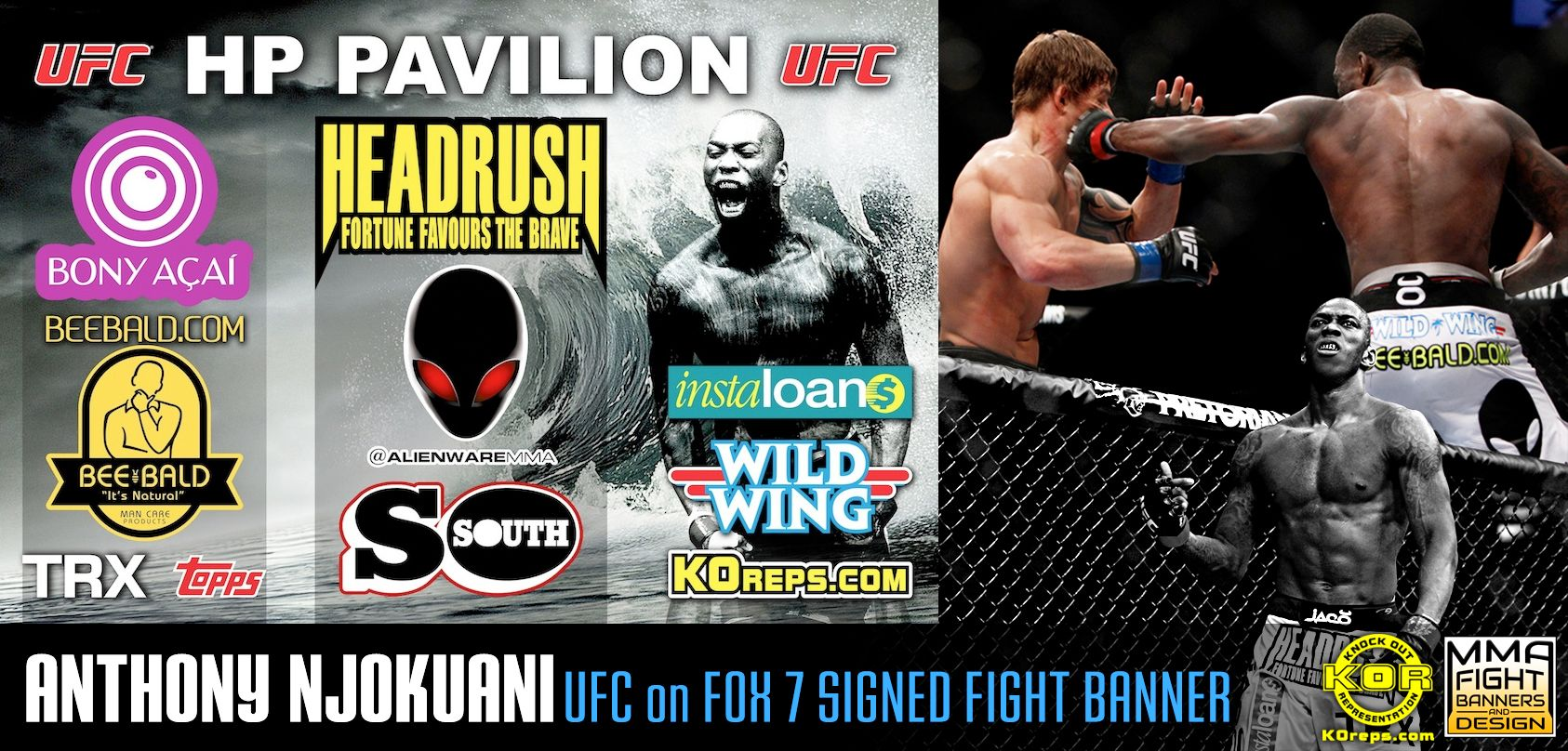 Own Anthony Njokuani's signed UFC on Fox 7 fight banner! #MMA ...