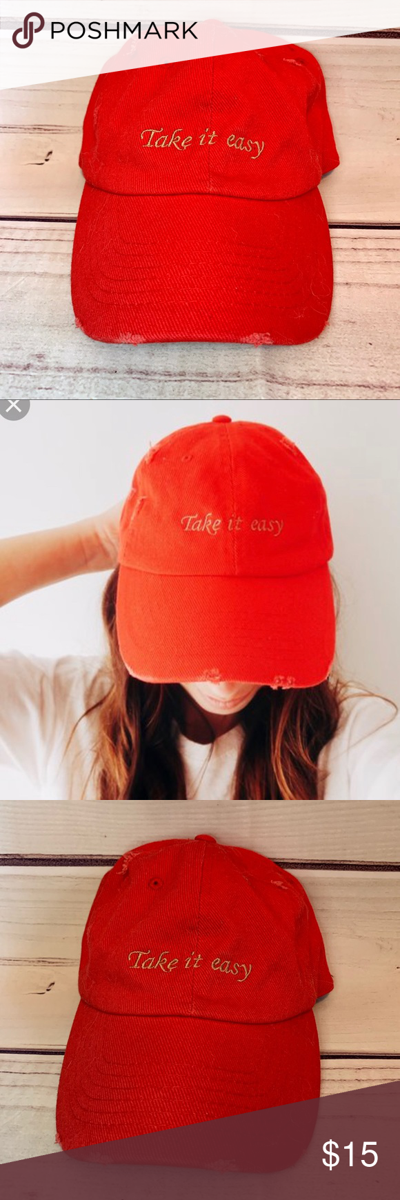 Urban Take It Easy Distressed Baseball Hat Dad Hats Baseball Hats Urban Outfitters Accessories