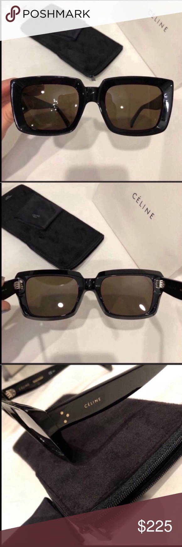 fefe2ffbc76f Celine sunglasses 🕶 Celine Emma black square sunglasses New condition.  100% authentic guaranteed. Includes Celine card, Celine case and cloth.