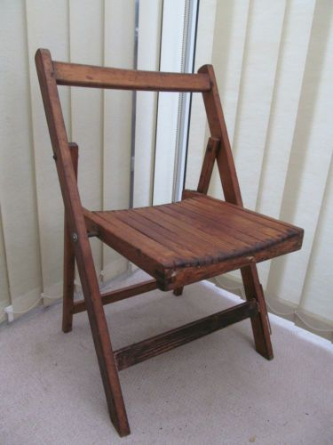 Phenomenal Vintage 1940S Full Size Display Wooden Folding Chair Caraccident5 Cool Chair Designs And Ideas Caraccident5Info