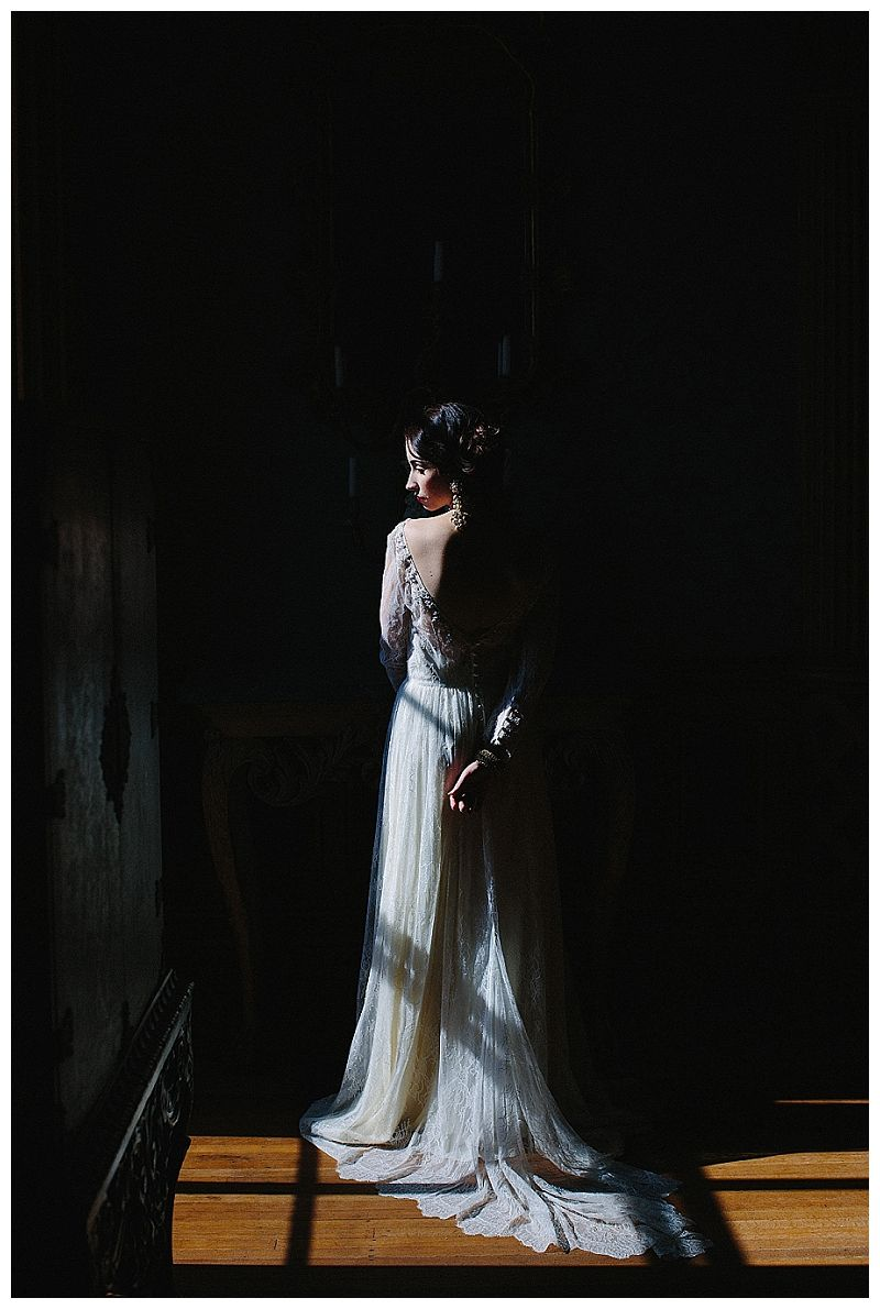 Bride at historic Hay House in Macon, GA. Wedding dress by Leanne ...
