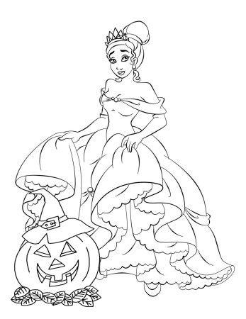 Free Disney Halloween Coloring Pages Disney princess