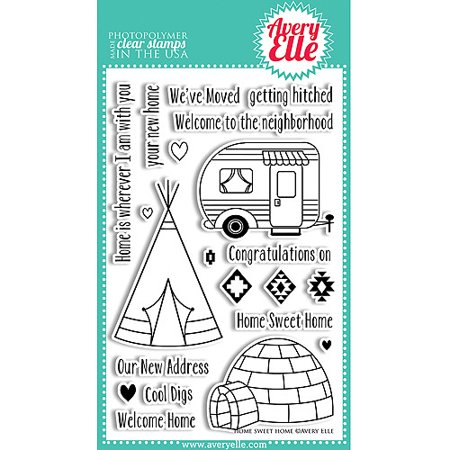 image relating to Craft Warehouse Coupons Printable named Avery Elle 4 inch x 6 inch Apparent Stamp Preset, Multicolor