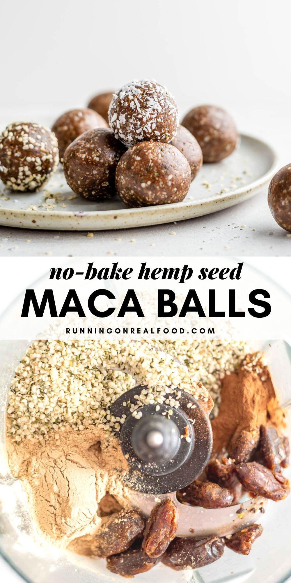 Vegan Hemp Seed Maca Balls