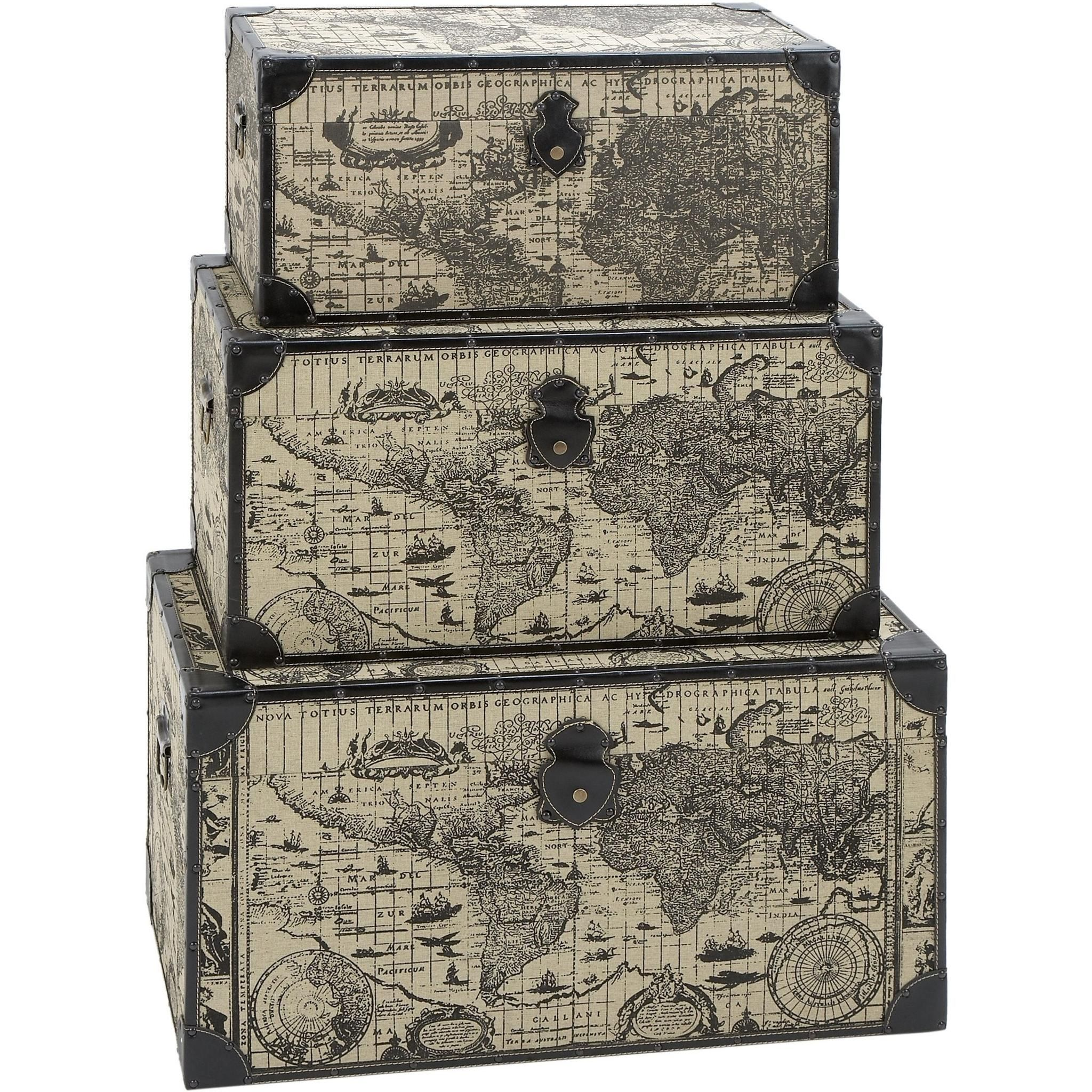 Travel steamer trunk set with ancient world map products travel steamer trunk set with ancient world map gumiabroncs Image collections