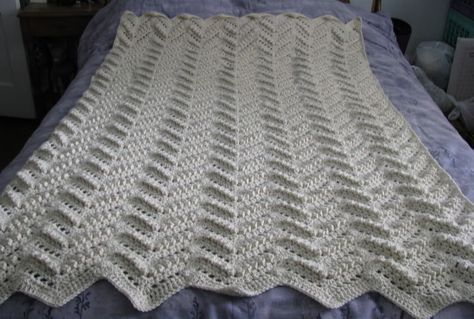 Half Double Crochet Chevron Afghan Easy Ripple Afghan Free