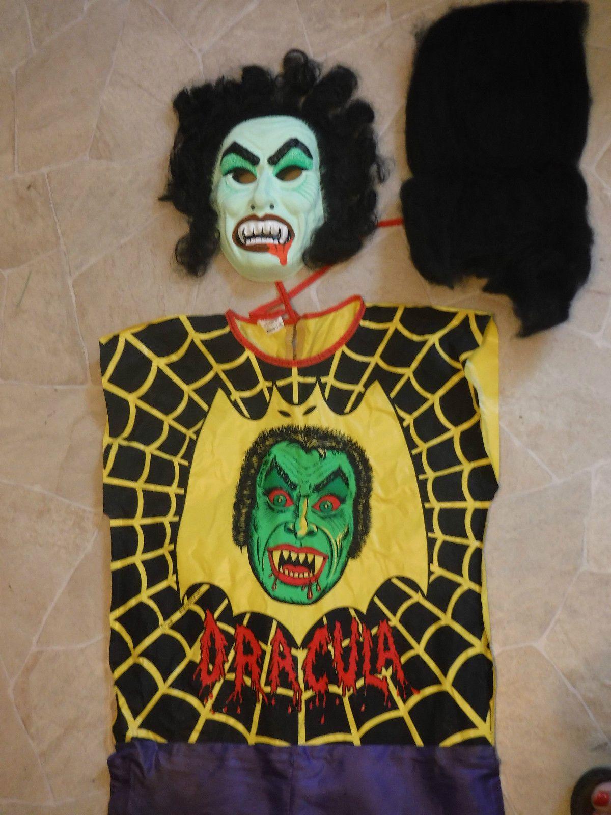 VINTAGE Ben Cooper 1978 Dracula Halloween Costume In Orig Box w ...