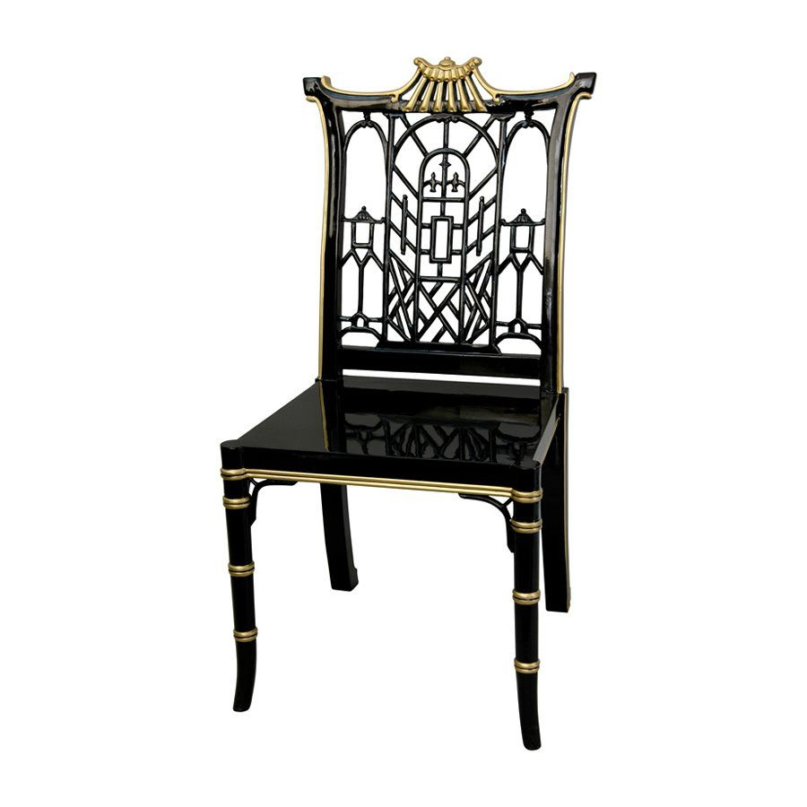 Free Shipping Furniture Stores: Shop Oriental Furniture LCQ-CHPGD-BGT Lacquer Pagoda Chair
