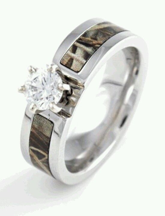 diamond realtree max 4 camo ring camorings - Realtree Camo Wedding Rings