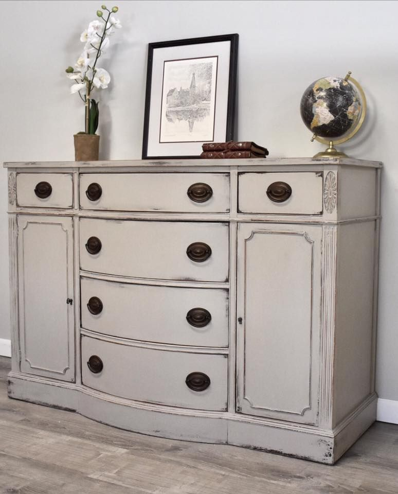 Drexel Buffet Painted With French Linen Chalk Paint® And