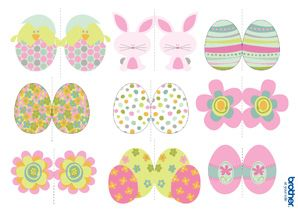 Printable Easter Decorations Supplies Free Templates Brother Printables