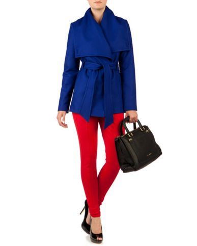 Ted Baker Matild short wrap coat Blue - House of Fraser Love this bright blue!
