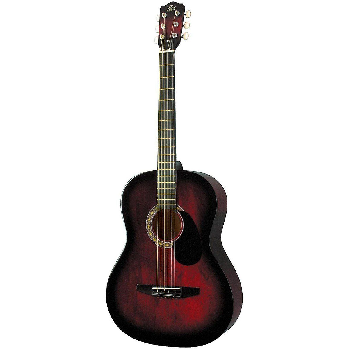 Amazon Com Rogue Starter Acoustic Guitar Red Burst Musical Instruments Guitar Acoustic Guitar Guitar Reviews