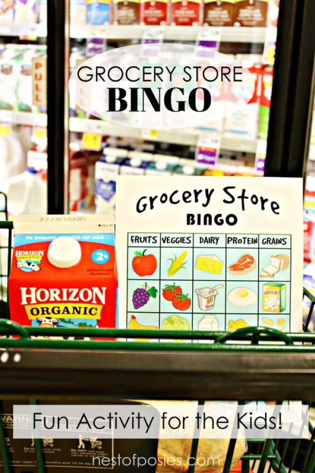 Grocery Store BINGO! Fun learning activity for the kids while you ...