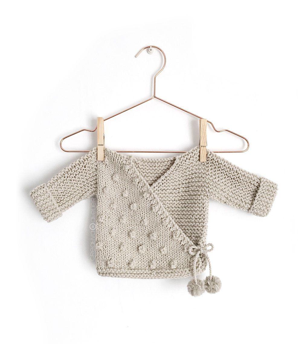 Kimono de Punto para Bebé [ Tutorial y Patrón GRATIS ] | Verano