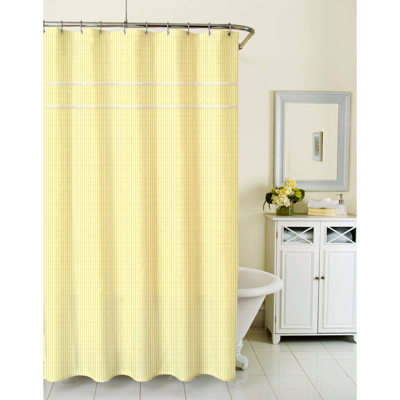 Homewear Sunny Day Shower Curtain, Seersucker Yellow - Walmart.com ...
