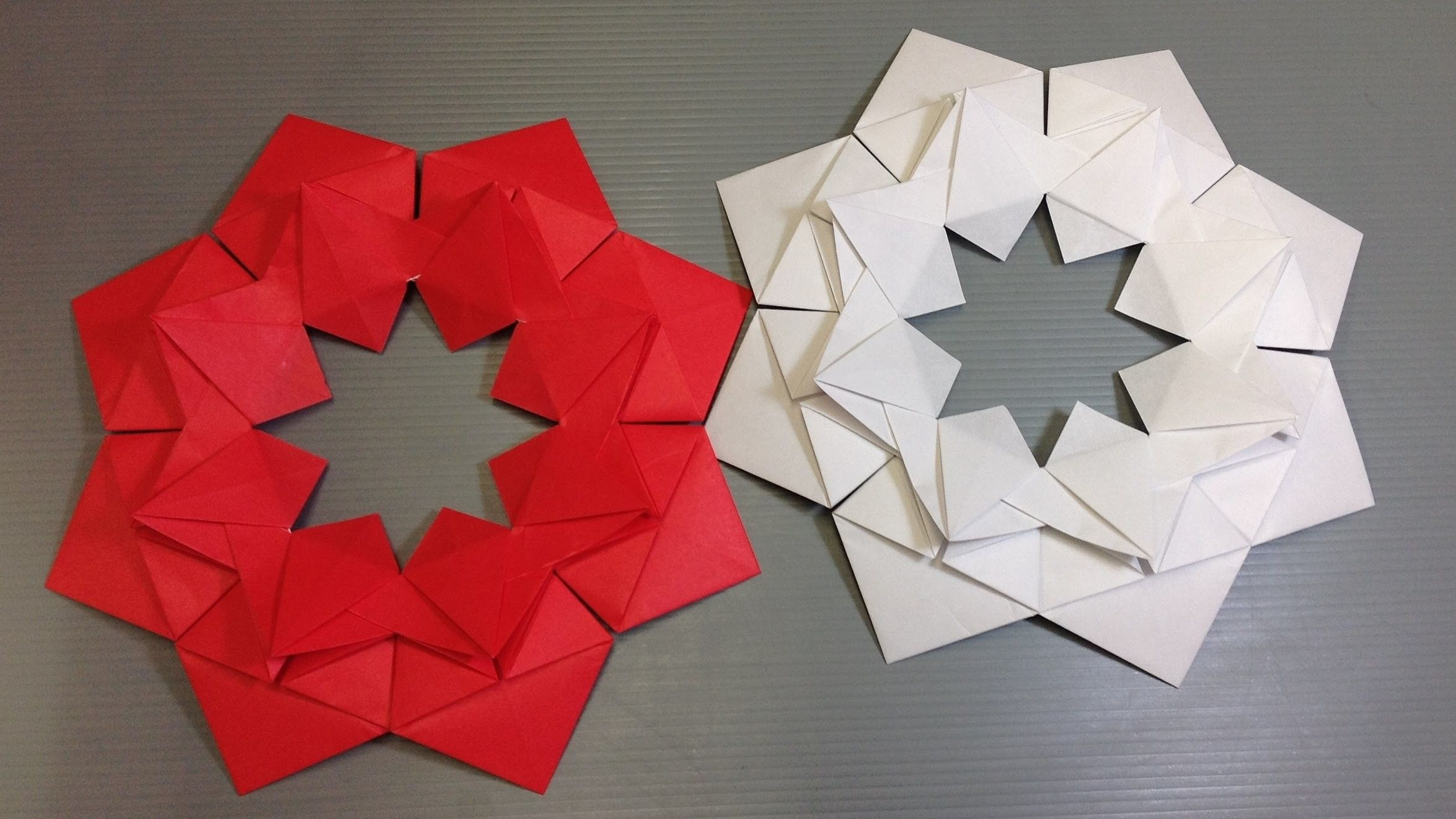 Easy Origami Modular Christmas Flower Easy Origami Origami And Flower