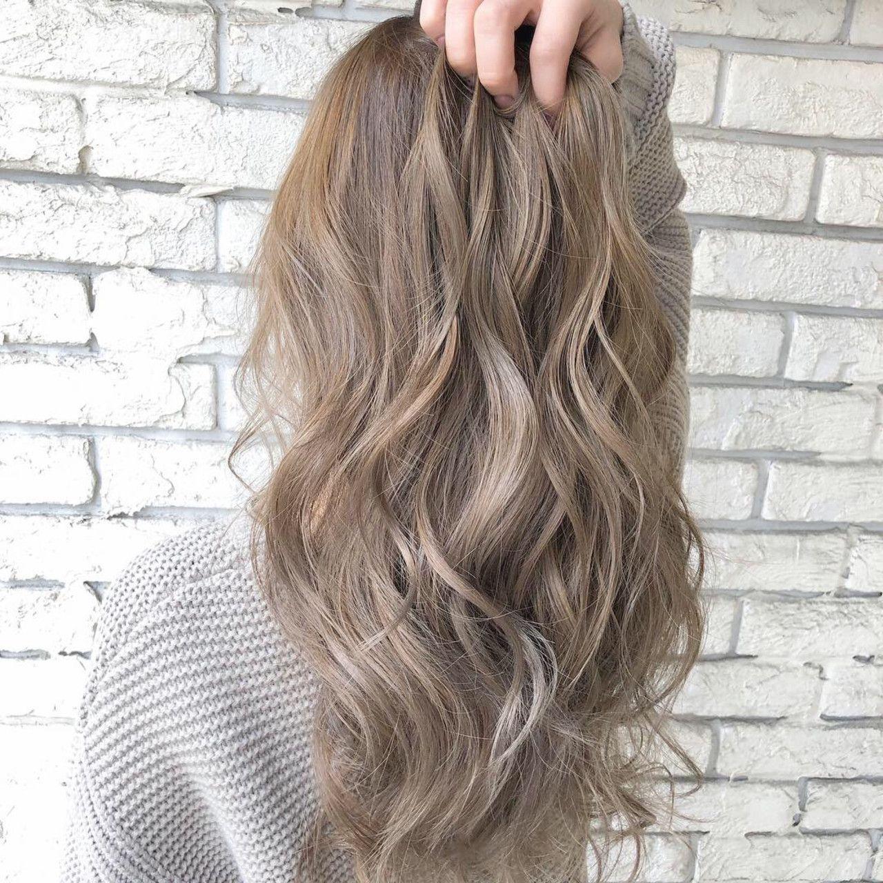 モテ重視 ミルクティーベージュは おフェロな魔法のヘアカラー Hair 髪色 ミルクティー 髪色 ベージュ 髪 色 明るめ
