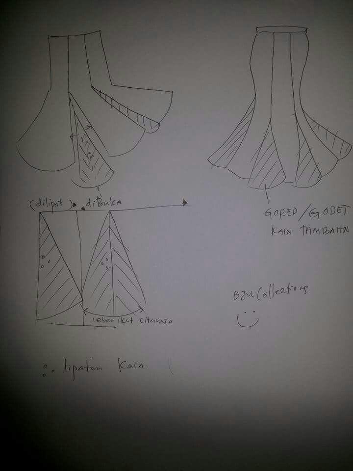 Skirt godet | skirt peplum | Pinterest