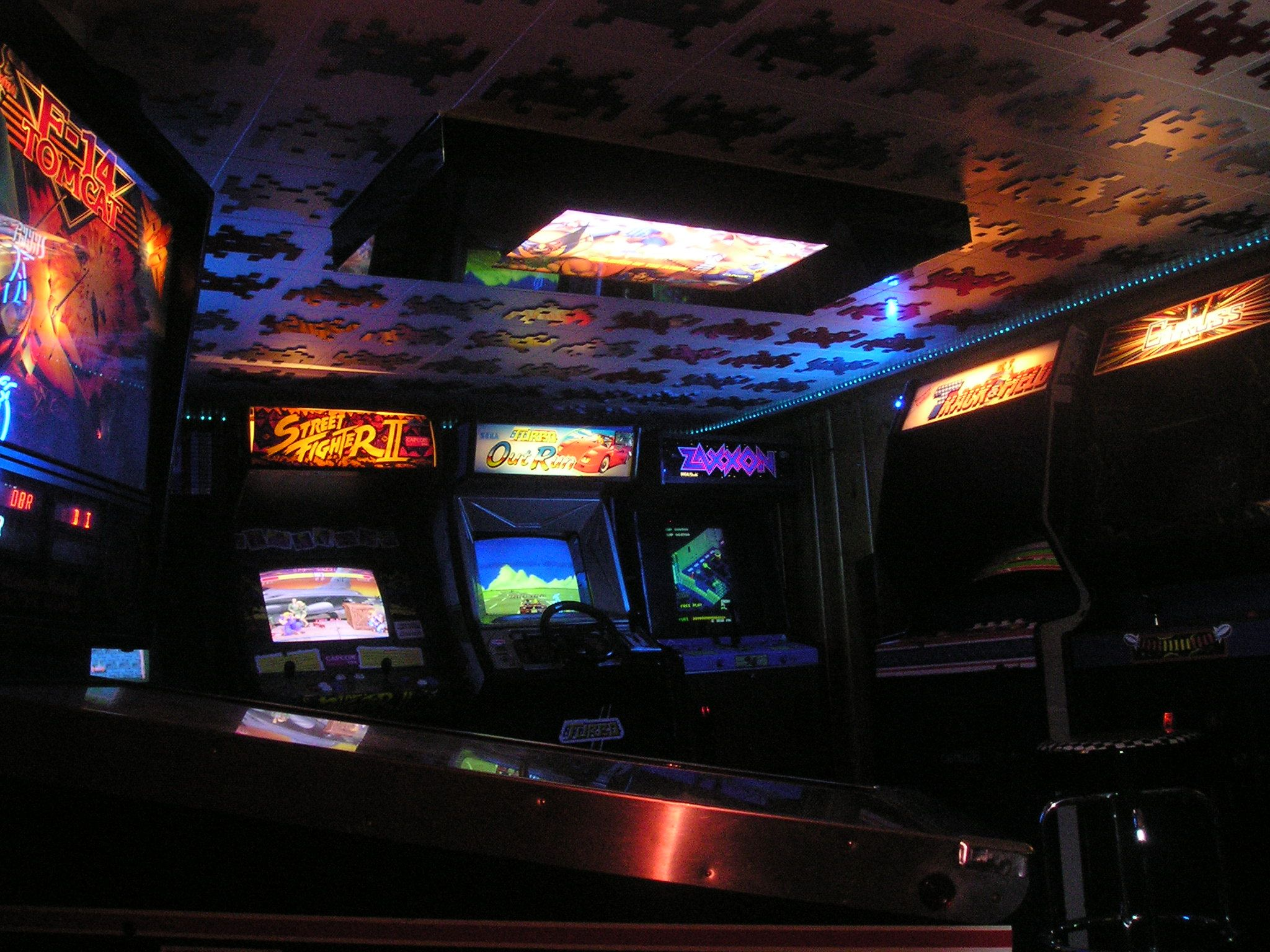 Space invaders ceiling tiles in home arcade something to think space invaders ceiling tiles in home arcade something to think about instead of standard ceiling tiles dailygadgetfo Choice Image