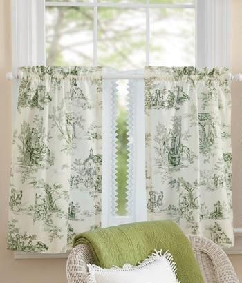 Lenoxdale Toile Tier Curtains   Country Curtains®