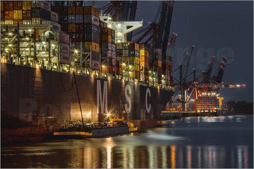 Sabine Wagner Msc Containerschiff Containerschiff Hamburg Reise Schiff