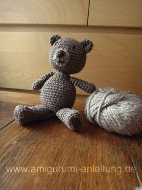 Teddybär Aus Dunkler Und Heller Wolle Bea Pinterest Dunkel