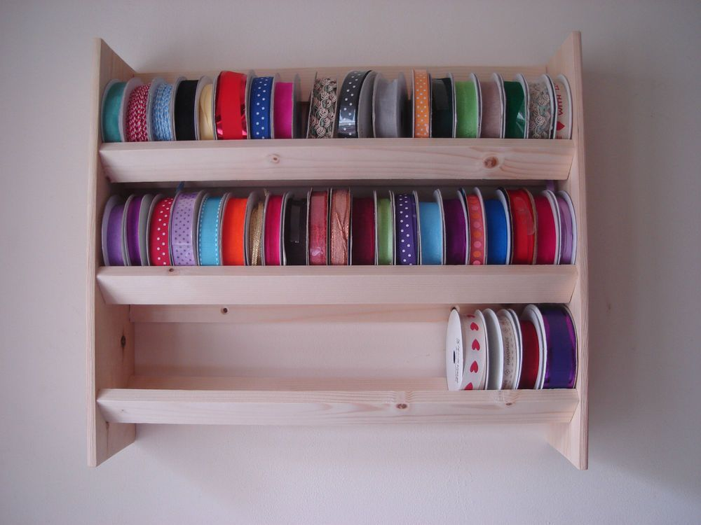 Ribbon Holder Rack Unit Stand Storage Wall Mounted Ribbon