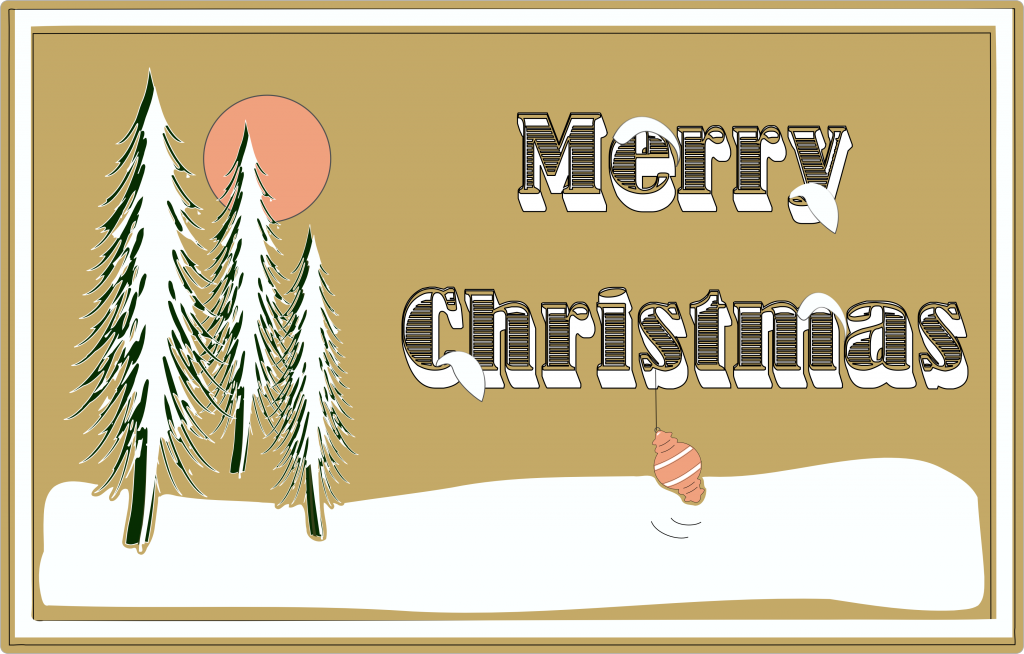 Free Inkscape Svg Snowy Merry Christmas Christmas Svg Files Christmas Svg Free Christmas