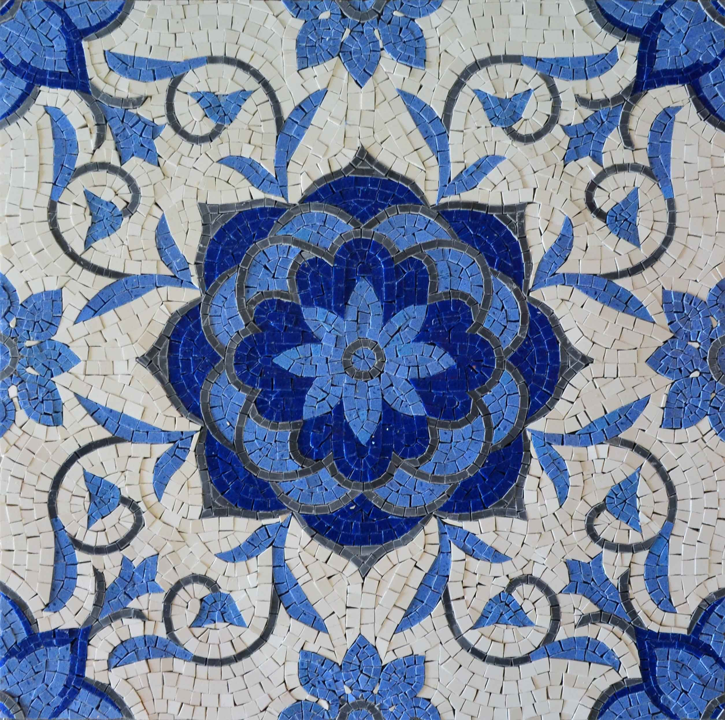 Beautiful Geometric Design Marble Mosaic Tiles With Floral