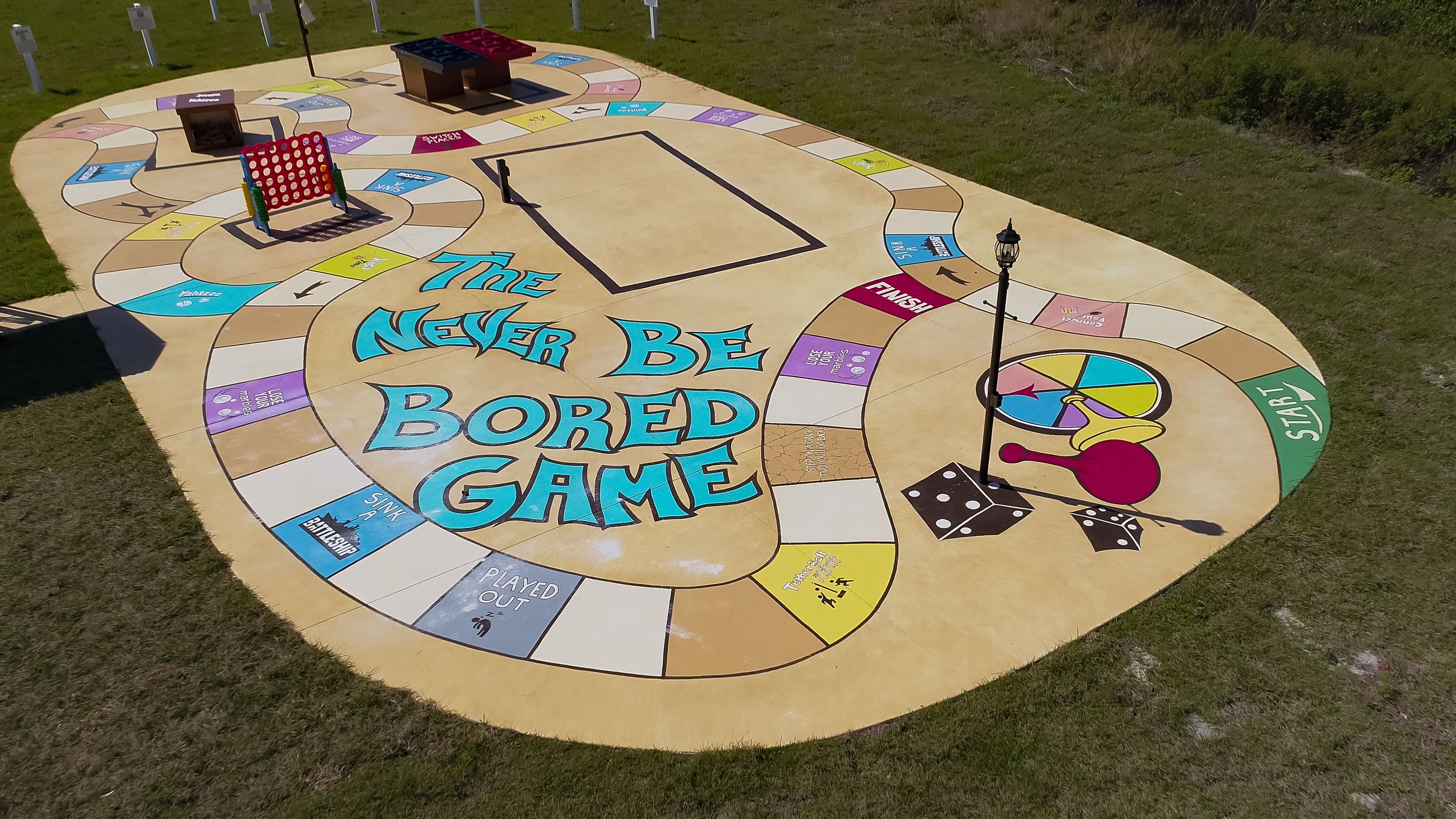 The giant neverbeBORED game at Great Escape Lakeside