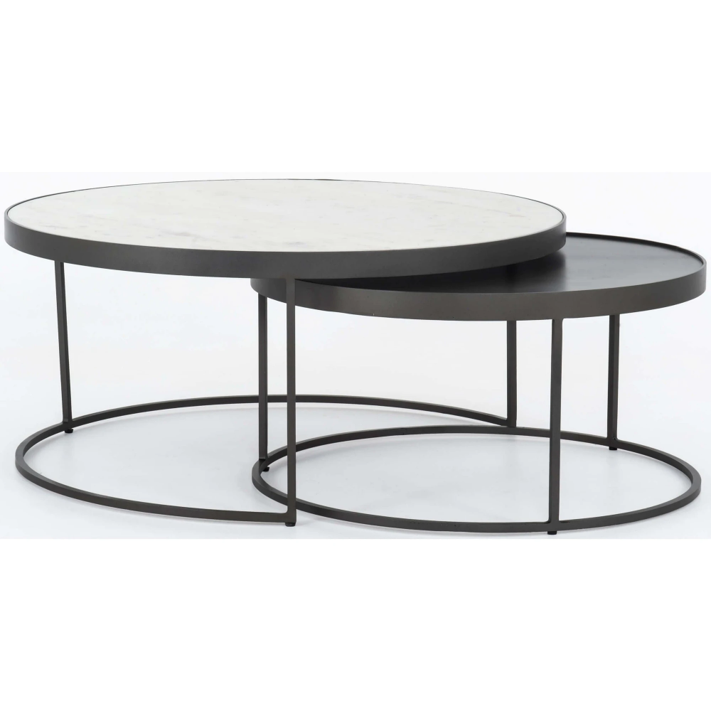 Evelyn Round Nesting Coffee Table In 2020 Nesting Coffee Tables Round Nesting Coffee Tables Round Coffee Table Modern
