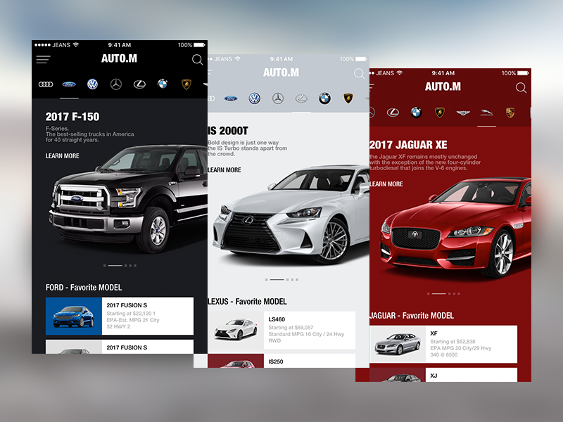 Auto M Mobile App Design Mobile Design Mobile Website Design