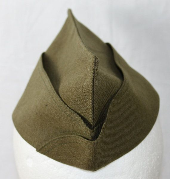 12ec9ed5527 Vintage US Army Garrison Hat 1930 s to 1940 s by ilovevintagestuff