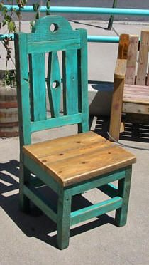 Santa Fe Style Painted Furniture 324c Kitchen Chair Luna 330 Ranch Bench 48