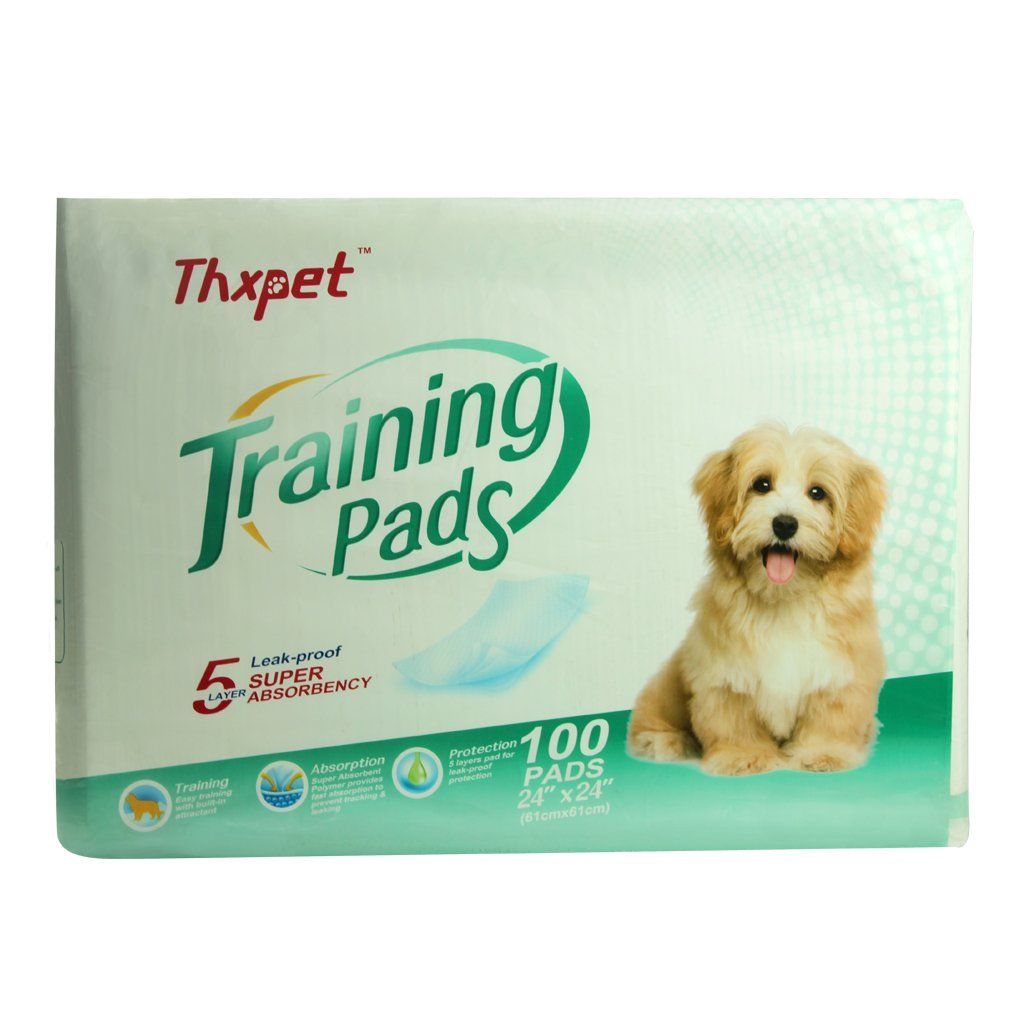 Thxpet Dog Pee Pads Super Absorbent 100 Count Puppy Training Pads