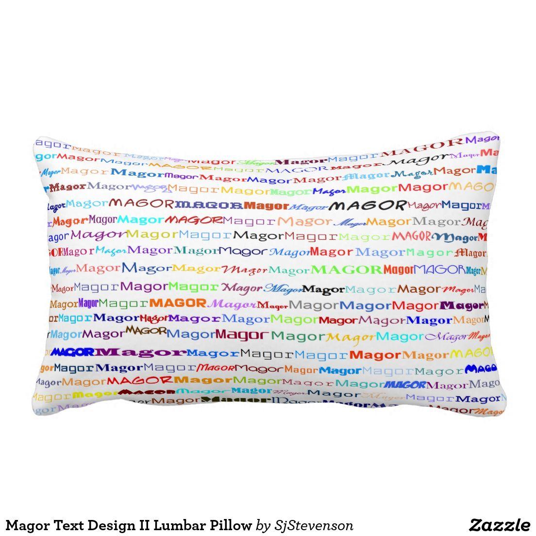 Magor Text Design II Lumbar Pillow