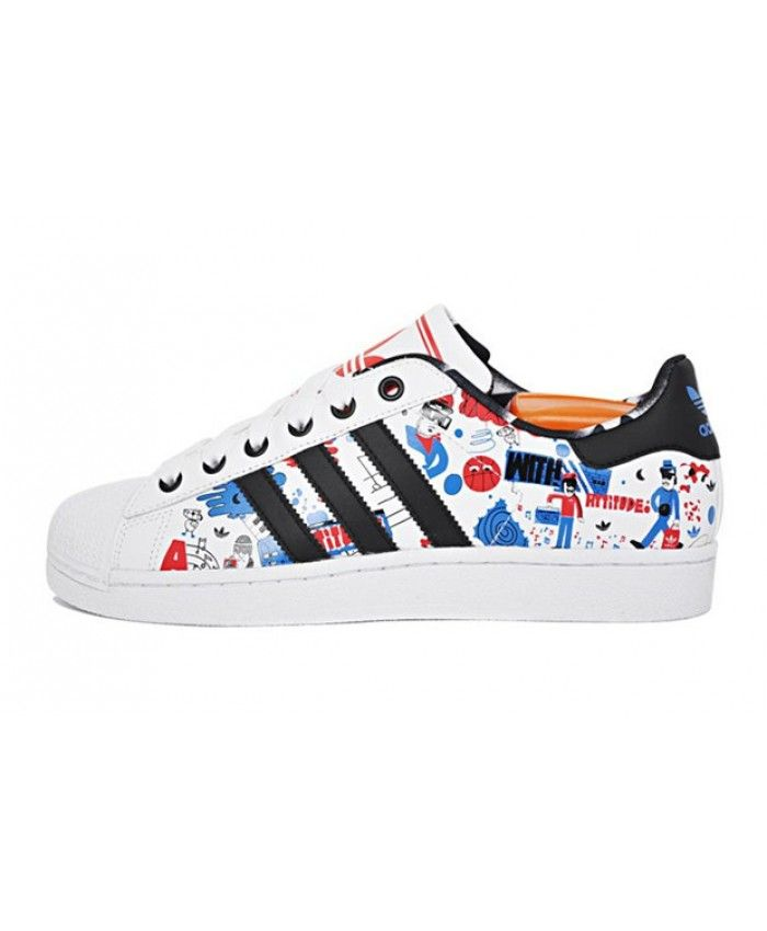 Adidas Originals Superstar Cartoon Graffiti Trainer