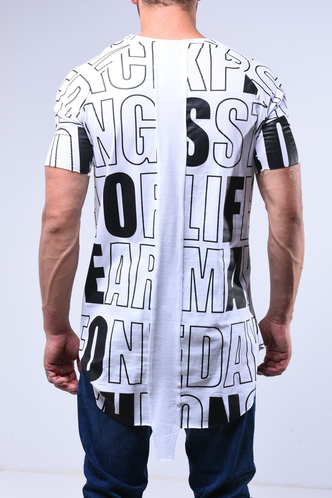 Streetwear premium Red Check Hip Hop Long T-Shirt Top