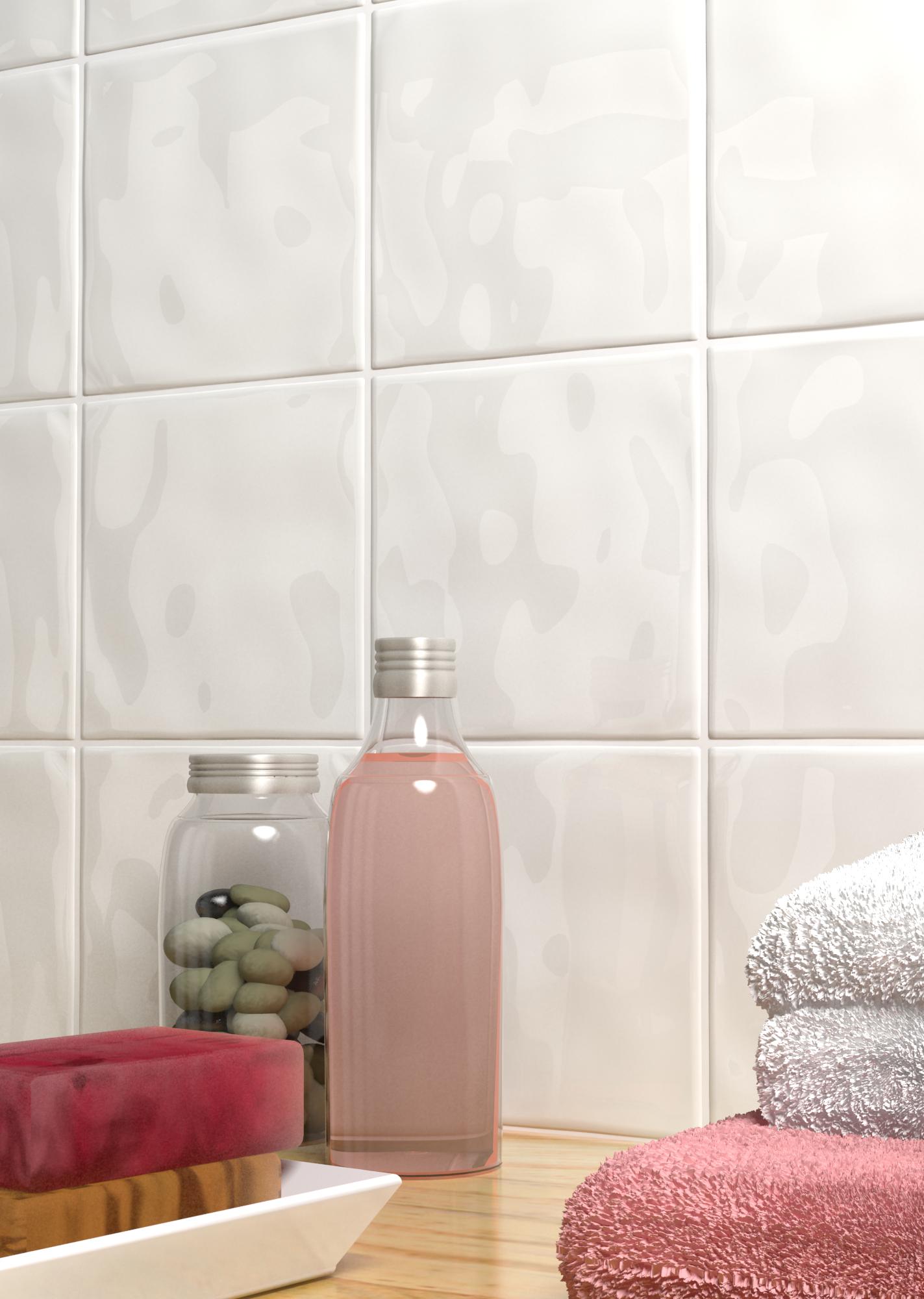 Bumpy Gloss White Textured Tiles | White tiles, Subtle textures and ...