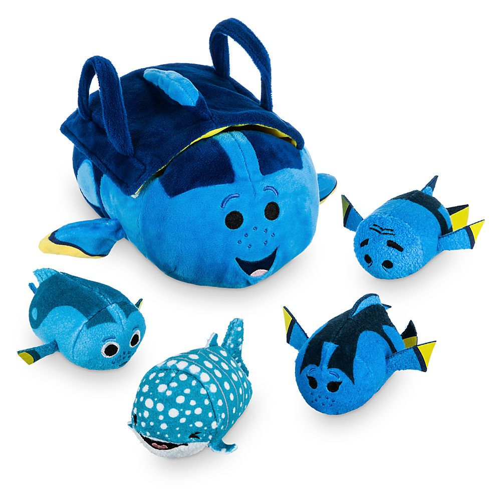 Finding Dory Tsum Tsum Bag Set - Baby Dory, Destiny, Charlie, and Jenny