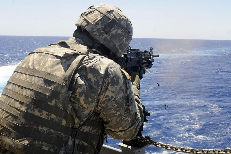 Live Fire Gunnery At Sea Military Police Us Marine Corps Staff Sergeant