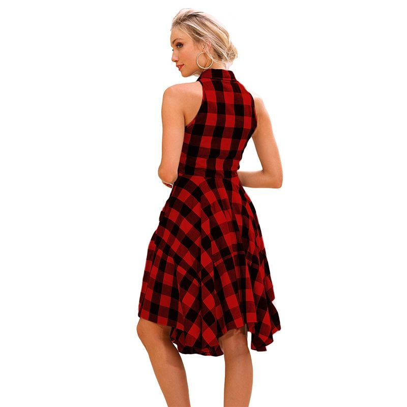 d0c1cddcabf Enjoyofmine Women s Plaid Tweed Shirt Dress
