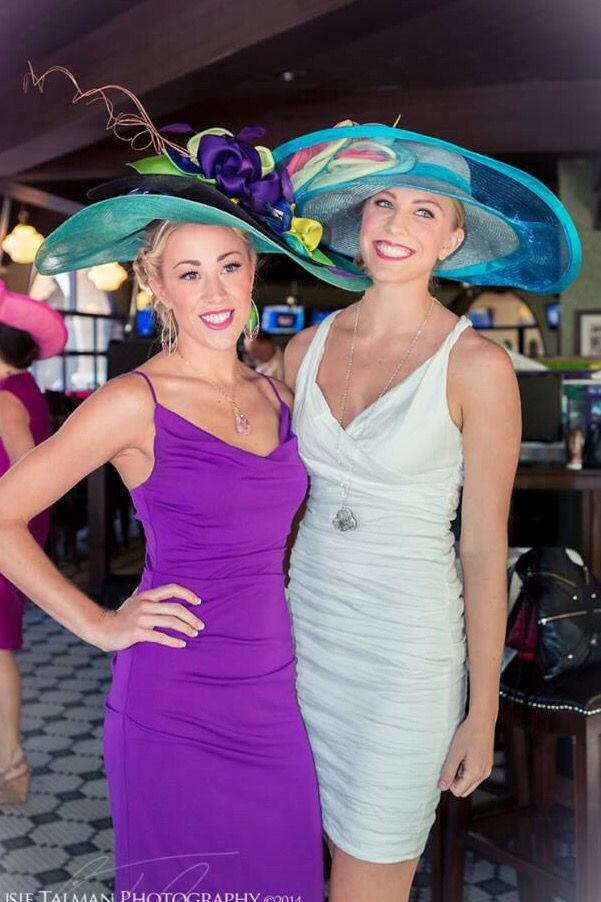 Two beautiful hats designed by Christine Moore. Hair and wardrobe style by   deenasavvy hat sponsor Studio Savvy Salon 65b56080e9f