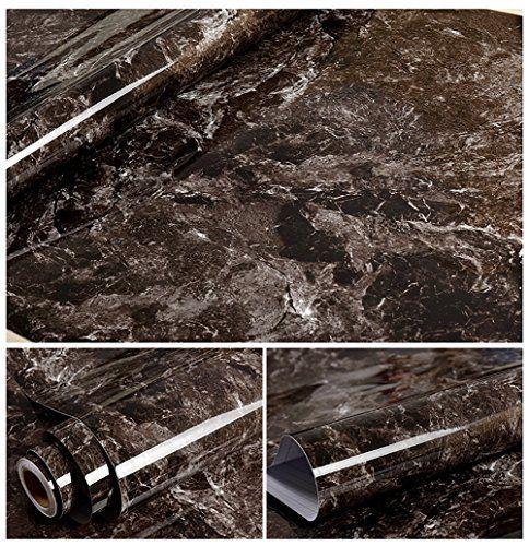 Black Granite Look Marble Effect Contact Paper Film PVC/V