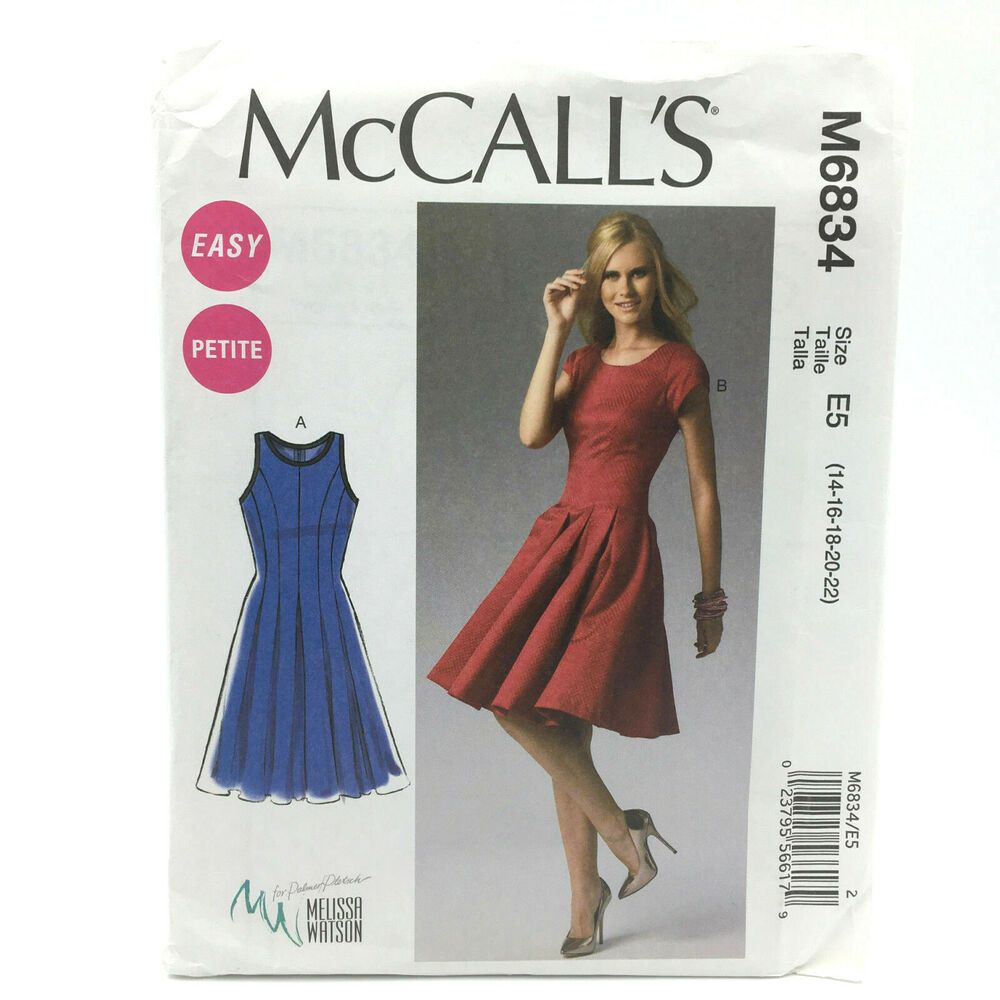 Details about mccalls 6834 womens plus size petite fit