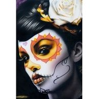 Totenmaske mexiko tattoo mexikanische totenmaske halloween und schminken halloween - Mexikanische totenmaske schminken ...