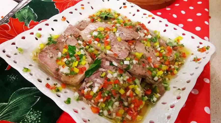 Lengua A La Vinagreta Criolla Para Navidad Recetas Cocineros Argentinos Lengua A La Vinagreta Comida Saludable Pollo Comida Fria