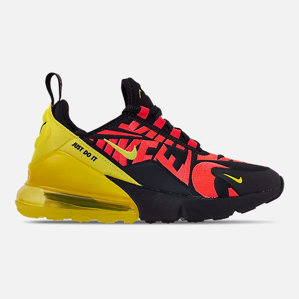 purchase cheap 0fc40 dc624 Right view of Boys  Big Kids  Nike Air Max 270 Embroidered JDI Casual Shoes  in Black Dynamic Yellow Bright Crimson