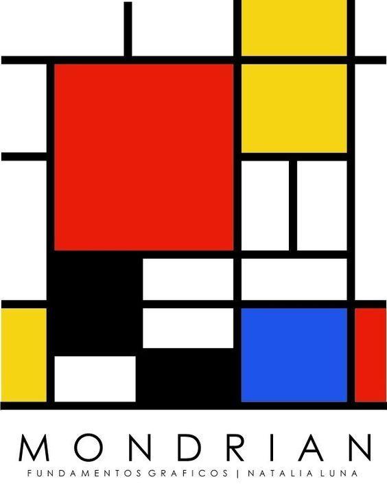 몬드리안의 작품에서 사용되는 수직 수평선은 각각 생기와 평온함을 나타내는 것입니다 몬드리안은 수직 기하학 양식 그래픽 유명한 예술